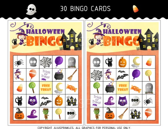 image relating to Printable Haloween Bingo known as Halloween Bingo Playing cards Printable - Halloween Video games - Halloween Bash Video games - Quick Obtain - Halloween Things to do - Halloween Printables