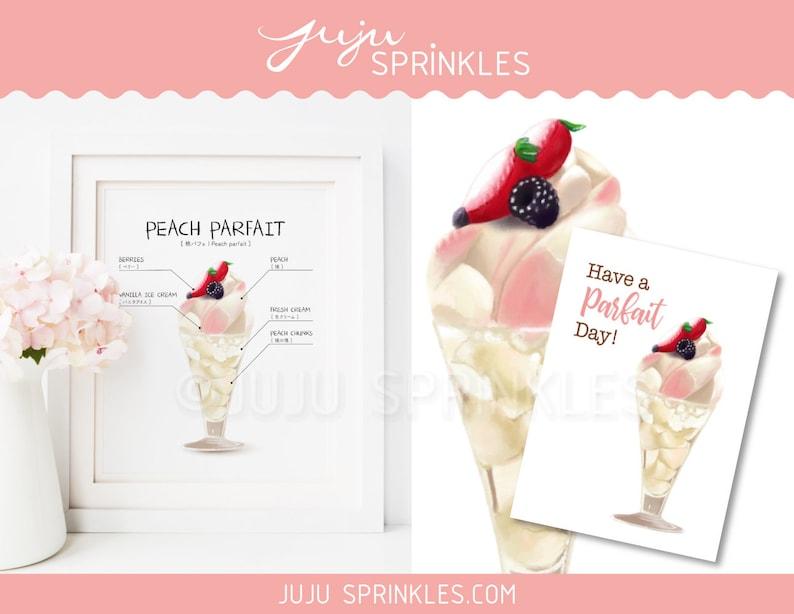 Ice Cream Printable Parfait Peach Momo Printable Kantaro image 0