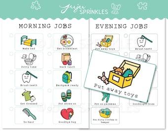 Kids Chore Chart Printable, Kids Routine Chart, Girl Chore Chart, Daily Routine Chore Chart, Positive Behavior Chart, Boy Chore Chart