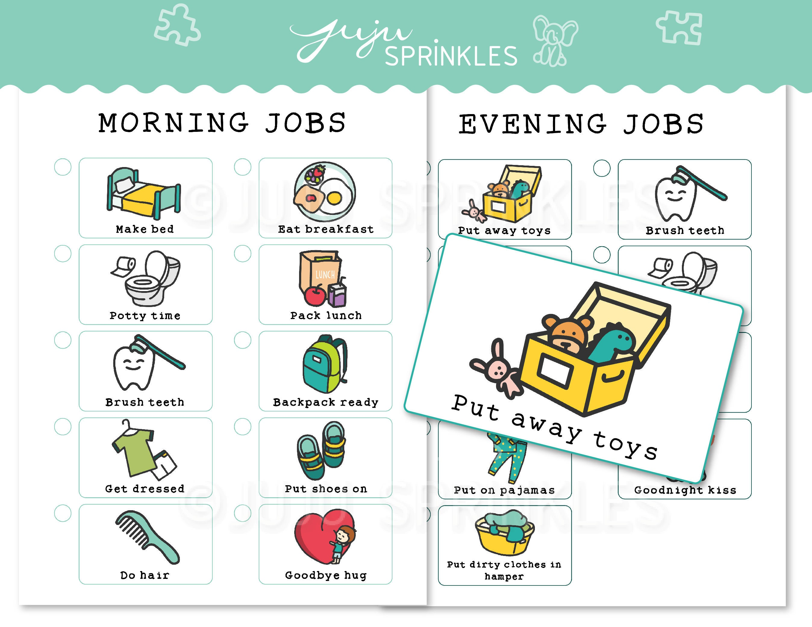 Terrible image for printable chore pictures