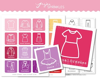 Kids Clothes Organizers   Kids Clothing Labels   Printable Children Clothing Labels   Girl Clothing Labels