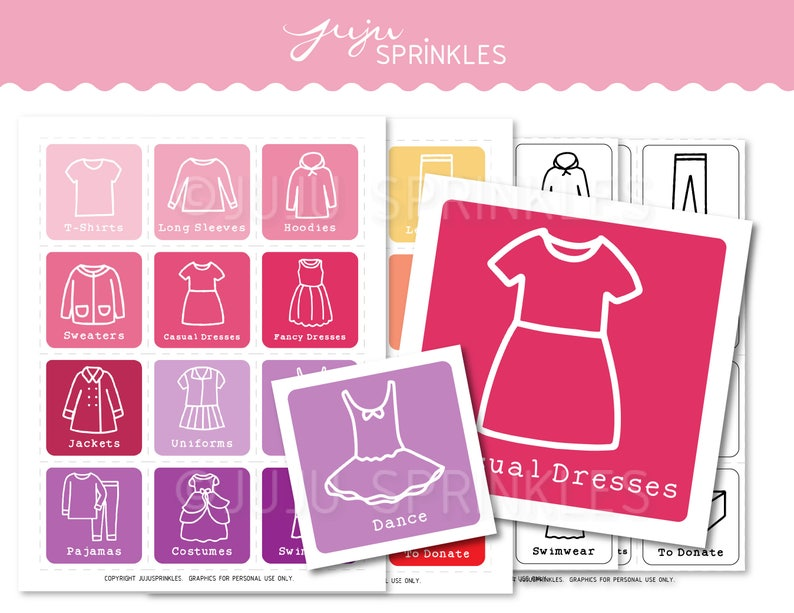 photograph about Printable Clothes named Little ones Clothing Closet Organizers Printable Female Clothes Labels Konmari Labels Small children Drawer Small business Labels Storage Coloring Internet pages