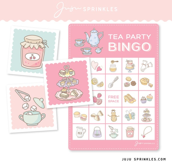 Tea Party Find the Tea Cup Game Digital Printable