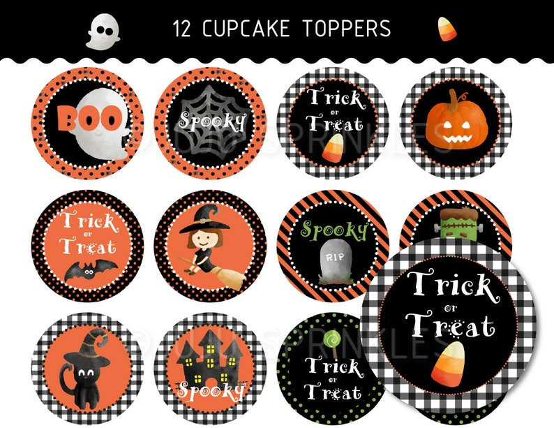 Halloween Cupcake Toppers Printable Halloween Party image 0