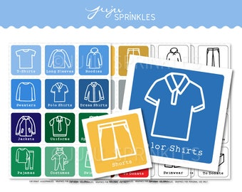 Kids Clothes Organizers   Kids Clothing Labels   Printable Children Clothing Labels