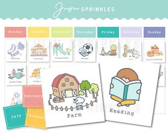 Printable Weekly Visual Calendar | Kids Weekly Calendar I Printable Kids Schedule I Toddler Calendar I Children Activity Planner