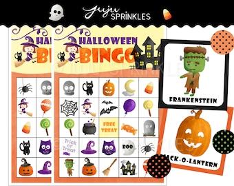 Halloween Bingo Cards Printable - Halloween Games - Halloween Party Games - Instant Download - Halloween Activities - Halloween Printables