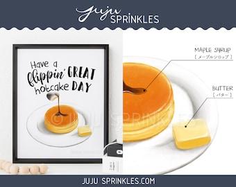 Hotcakes, Japanese Style Pancake, Japanese Dessert Print, Kantaro The Sweet Tooth Salaryman, Pancake Print, Traditional Japanese Art