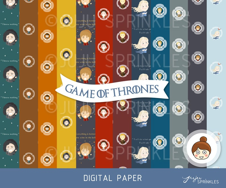 Game of Thrones Clipart Game of Thrones Illustrations image 0