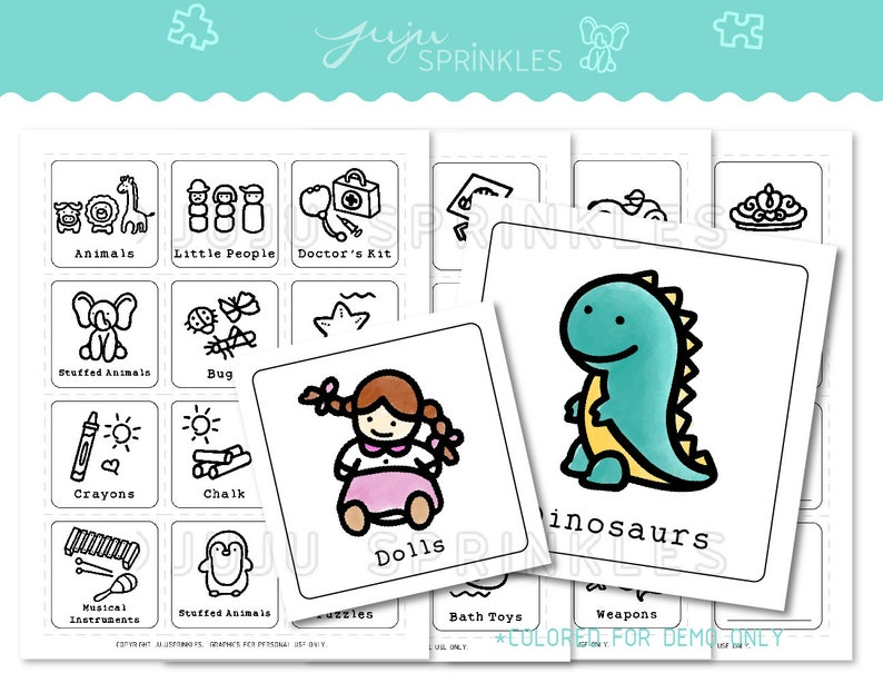 image about Colored Printable Labels titled Toy Business enterprise Labels Toy Labels Printable Children House Labels Toy Label with Visuals Toy Label Obtain Coloring Webpages Konmari Planner
