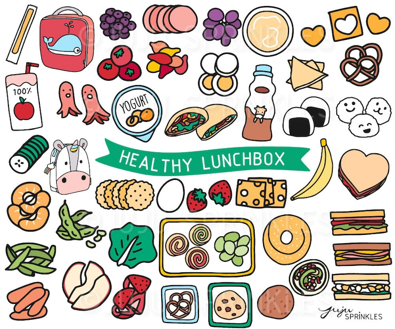 Lunchbox Clipart Healthy Lunch Clipart Kids Lunch image 0