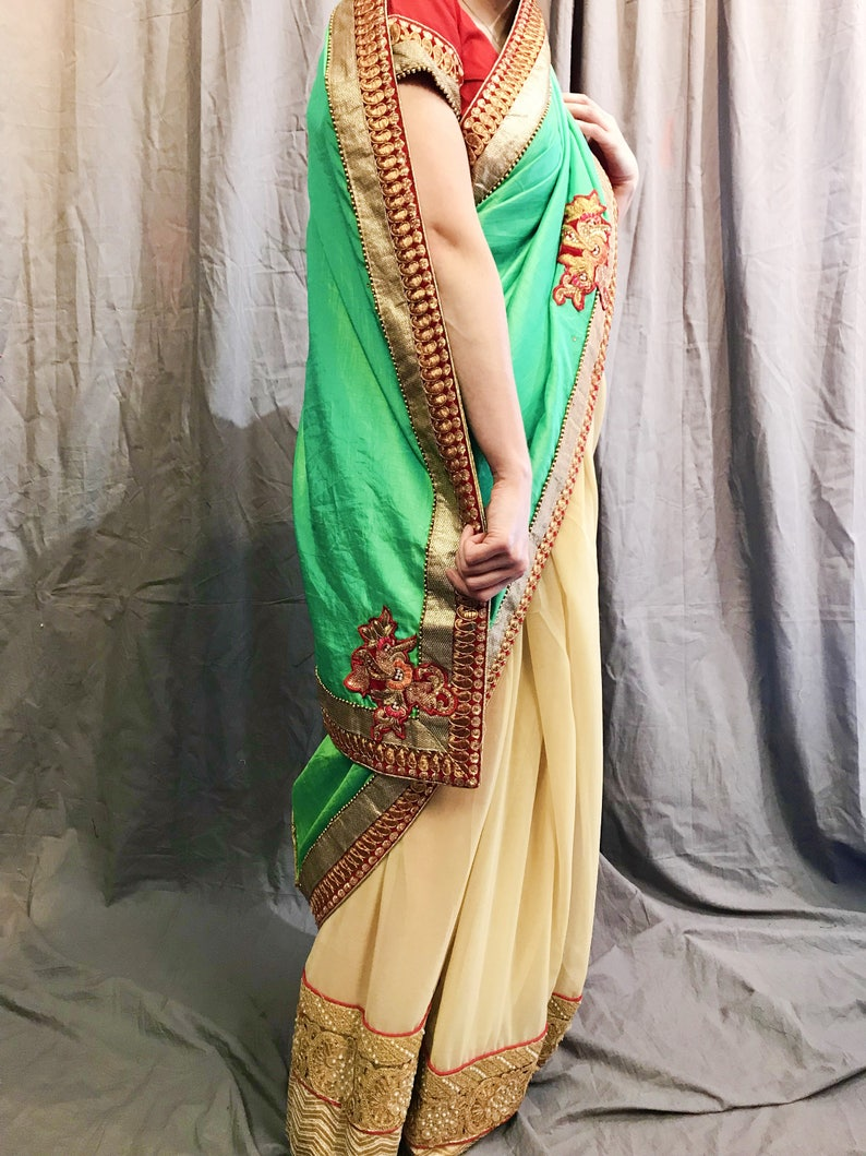 4730e0d9aa4 Saree with Stitched Blouse Readymade Blouse and Saree XS to