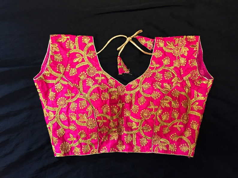 9a95bbf5ef8 Readymade Saree Blouse Pink Sari Blouse 38 40
