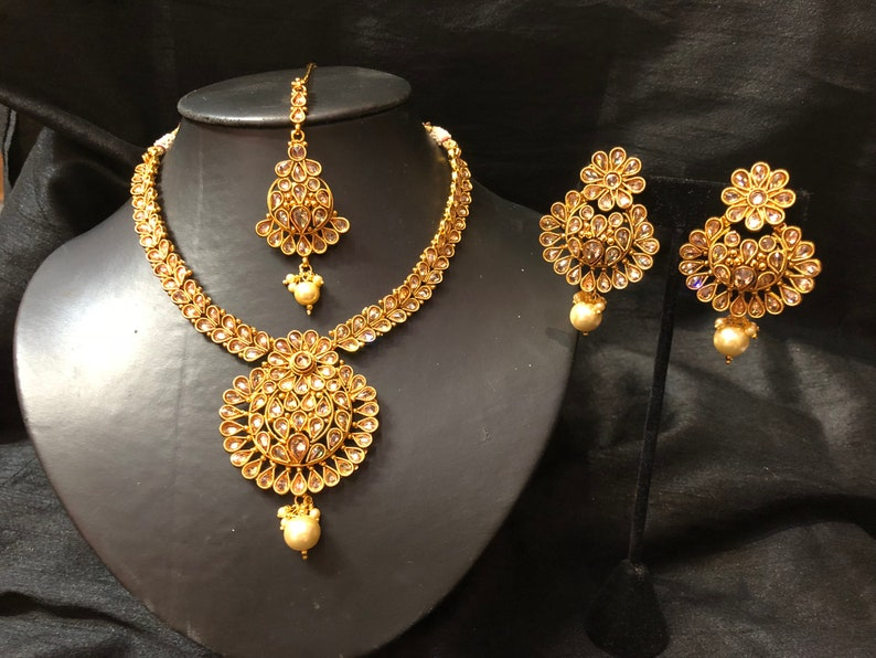 Jewelry & Watches New Wedding Handmade Indian Fashion Jewelry Wedding Party Earring Tikka Set With Traditional Methods