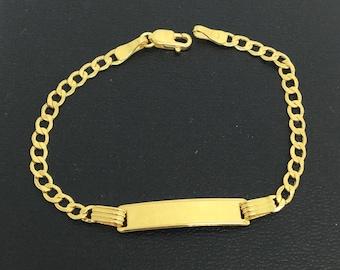 10K Yellow Gold Child ID Bracelet