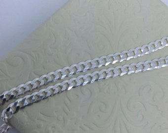 Sterling Silver Flat Curb Link