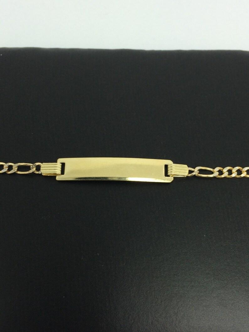 14K 2 tones Children ID Bracelet