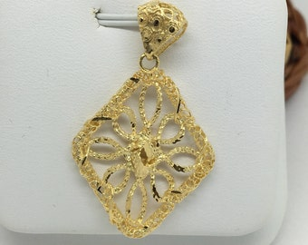 14K Yellow Gold Filigree Pendant