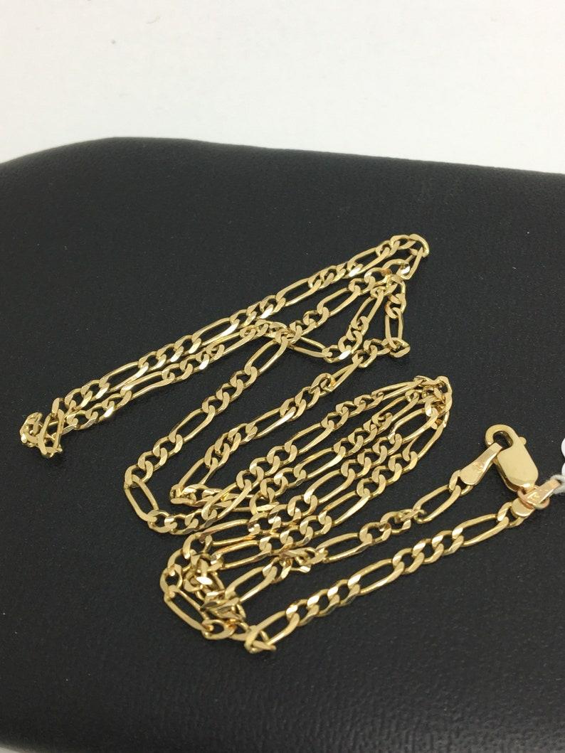 14K Yellow Gold Figaro Chain