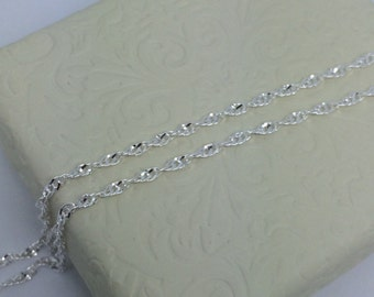 Sterling Silver Twisted Chain ~1.50mm