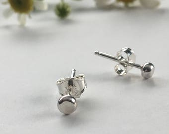 Tiny Dots Minimal Recycled Silver Studs
