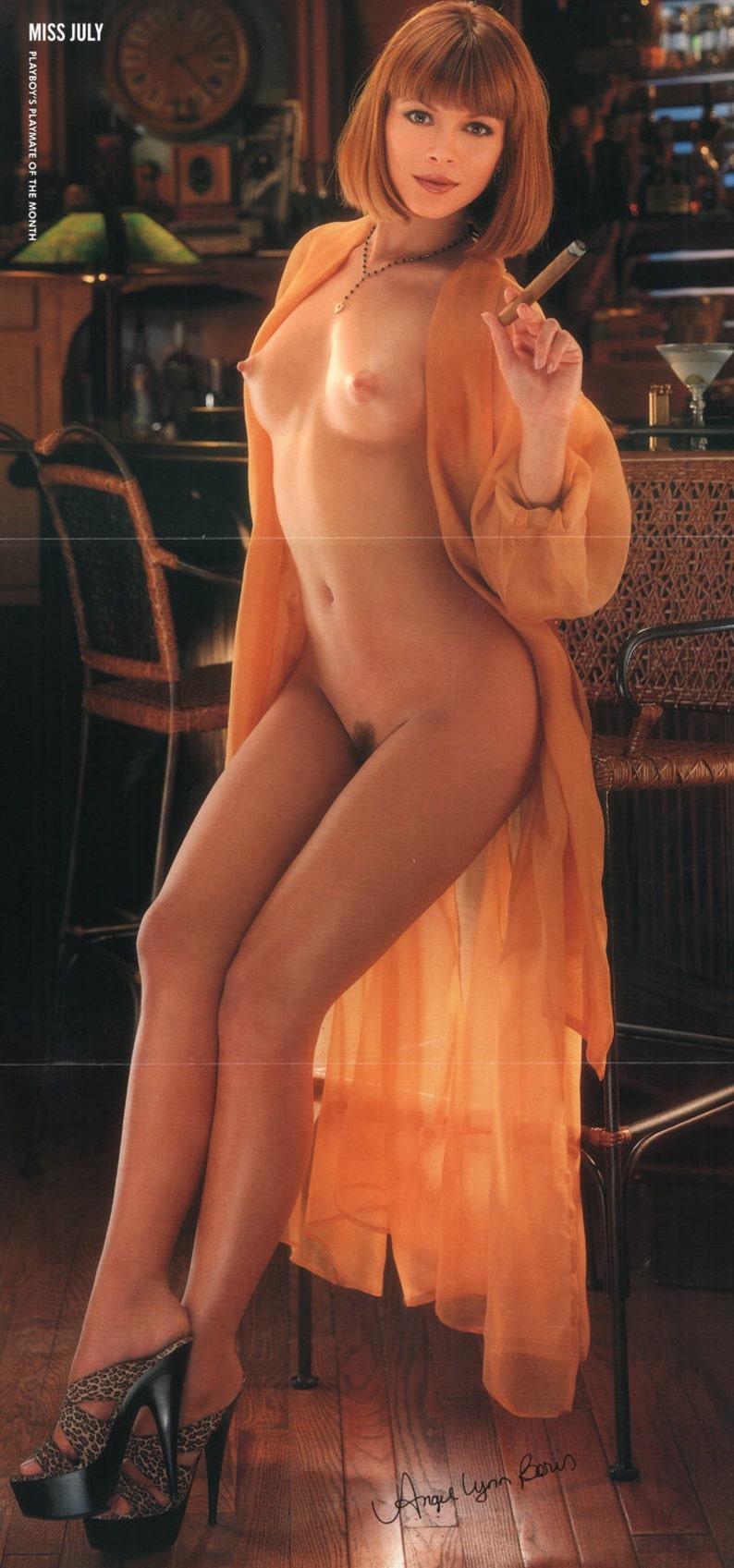 "Angel Boris Nude mature playboy july 1996 : playmate centerfold angel lynn boris taylor  gatefold 3 page spread photo wall art decor 11"" x 23"""