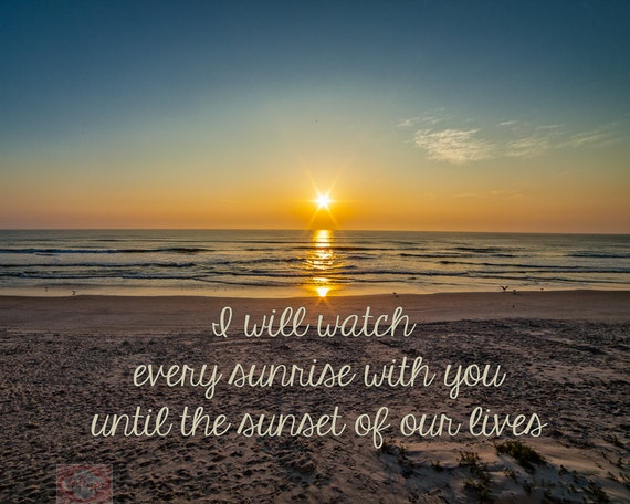 Nature Sunrays At Sunrise / Sunset On The Beach Love Quote