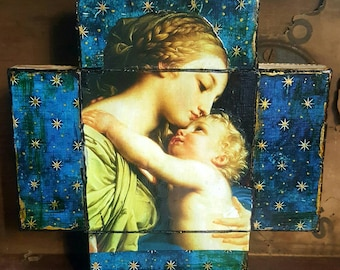 Madonna and Child Wall Cross