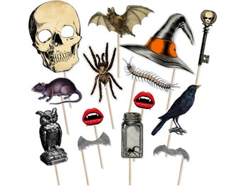 image about Halloween Photo Booth Props Printable Free named Daunting image booth Etsy