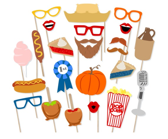 Printable Fall Festival Photo Booth Props Instant Download Etsy