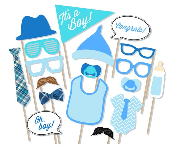Its A Boy Baby Shower Printable Photo Booth Props Baby Etsy