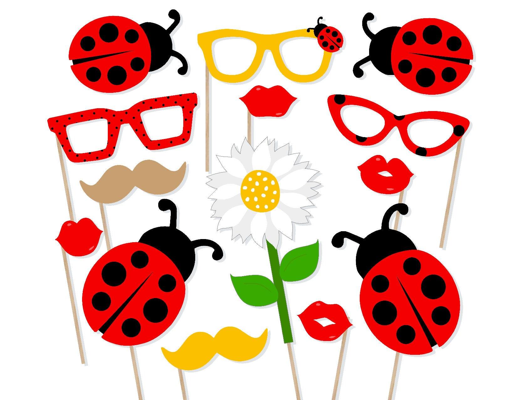 image regarding Printable Ladybug titled Printable Ladybug Picture Booth Props - Ladybug Photobooth Props - Ladybug Printable Props - Ladybug Birthday - Ladybug Kid Shower - Ladybugs