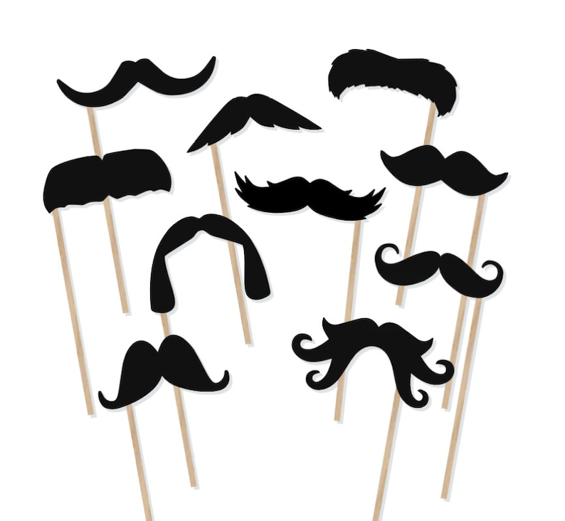 image about Printable Mustaches named Printable Mustache Photograph Booth Props - Mustache Photobooth Props - Moustache Printable Props - Minor Guy Bash - Mustaches upon a Adhere