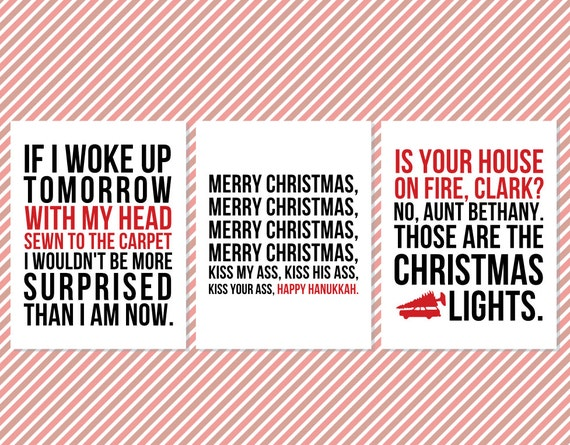 Christmas Vacation Quote Wall Art Signs Printable Christmas