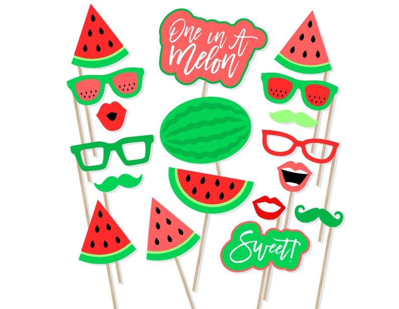 Printable Watermelon Photo Booth Props
