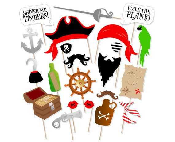 image relating to Free Printable Photo Booth Props Birthday called Printable Pirate Photograph Booth Props - Pirate Birthday Props - Nautical Props - Neverland Picture Props - Printable Pirate Birthday Get together Decor