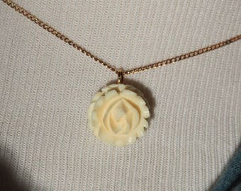 Carl Art Rose 1/20th 12kt Gold-Filled Vintage Pendant