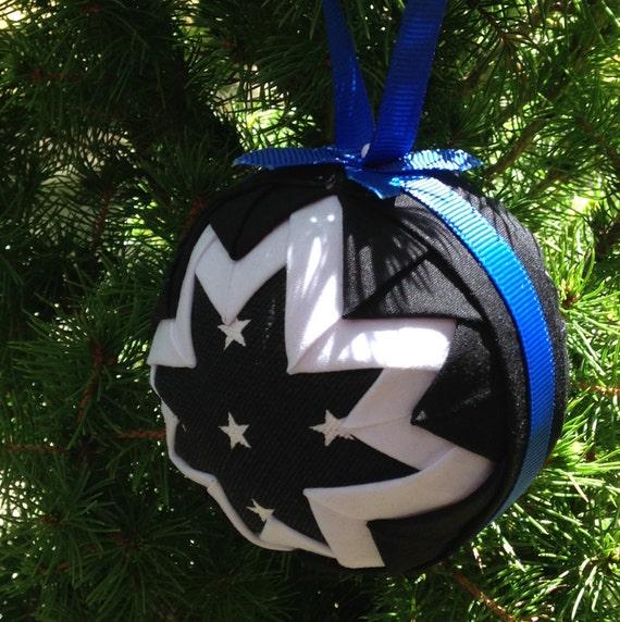 Blue Christmas Ball Ornaments Uk: Thin Blue Line Police Ornament Ball PATTERN