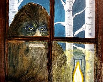 People Watcher - Bigfoot Sasquatch Art