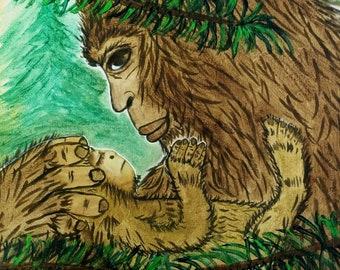 Little Bigfoot - Bigfoot, Sasquatch Art
