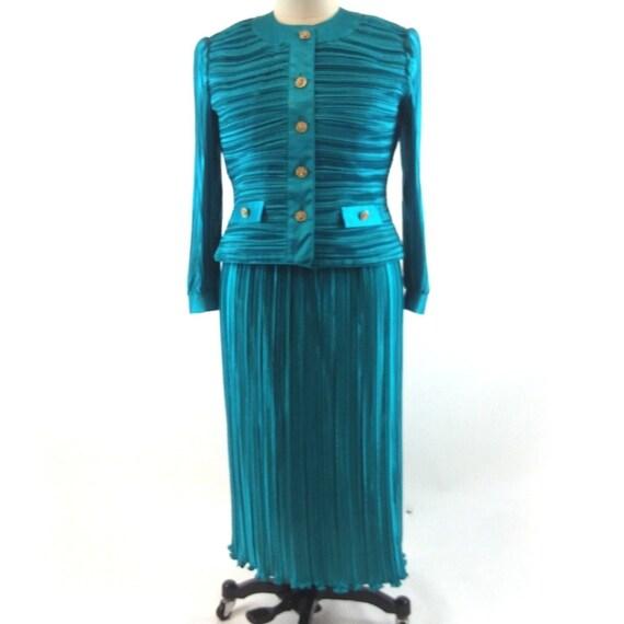 Vintage 80's Lawrence Dress Stanley Sklar Size 16
