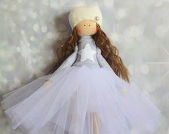 ballerina Doll, Textile doll, decorative doll, collectible dolls , doll cotton, rag doll, Fabric doll, Tilda doll, Home Decoration, Art doll
