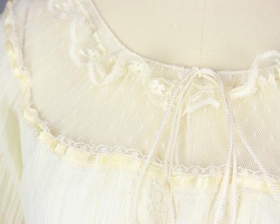 1970s GUNNE SAX Dress | Vintage 70s Ivory Cotton … - image 5