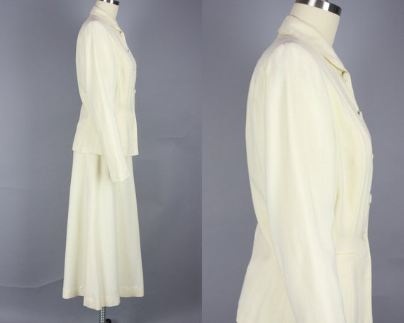 1940s SACONY Suit | Vintage 40s Ivory Palm Beach … - image 2
