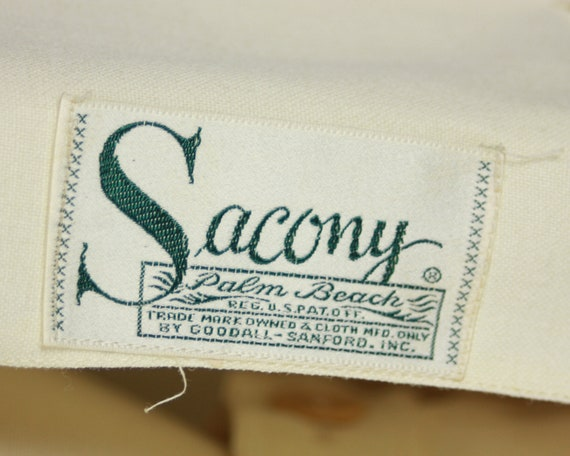 1940s SACONY Suit | Vintage 40s Ivory Palm Beach … - image 5