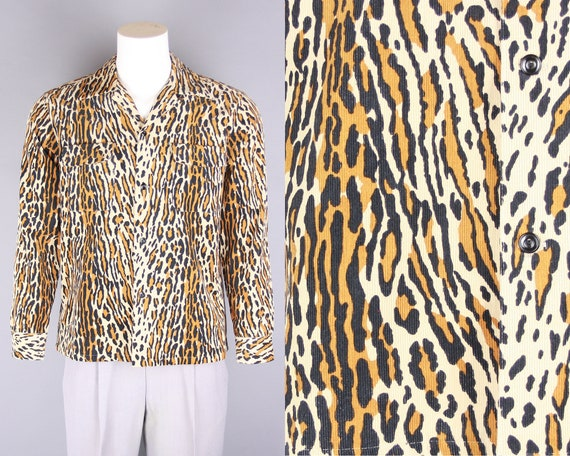 GROOVIN HIGH Leopard Print Shirt | 1940s 1950s Sty