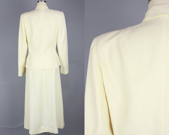 1940s SACONY Suit | Vintage 40s Ivory Palm Beach … - image 3