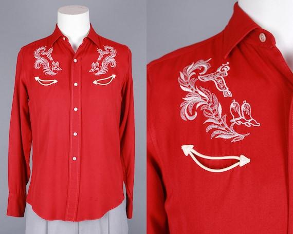 1950s H BAR C Western Shirt | Vintage 50s Men's Em