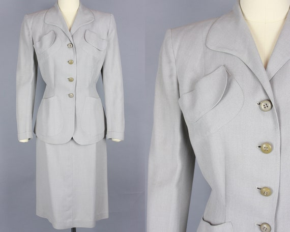 1940s SACONY Palm Beach Skirt Suit | Vintage 40s G