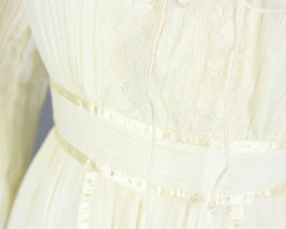 1970s GUNNE SAX Dress | Vintage 70s Ivory Cotton … - image 6